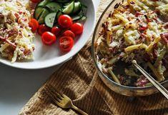 Kinkkukiusaus hapankaalilla (Saispa Lisää-blogi) Pasta Salad, Cobb Salad, Ethnic Recipes, Food, Crab Pasta Salad, Essen, Meals, Yemek, Eten