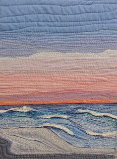"Textile Art Quilt:  ""Endings"" by Rebekah Dundon.  Thread painting at bekahdu at Etsy"