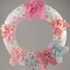 Pastel flower shabby chic, #decorazione, #homedecor, #doorwreath, #ghirlanda, #porta by TOYOdecorations on Etsy