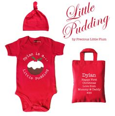 Personalised 'Little Pudding' Baby Grow