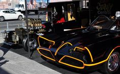 the munster mobile | The Batmobile, Munsters Coach, and T Buggy along with a couple bicyles ...