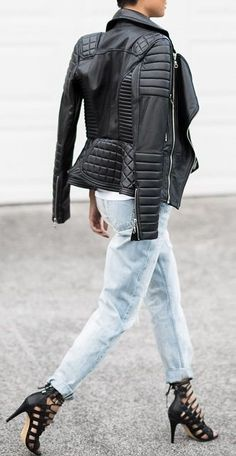 Leather + Denim + Leather Styling by Micah Gianneli