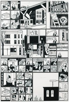 "Chris Ware: ""Jimmy Corrigan"" original art from Acme Novelty Library #9 (1997)"