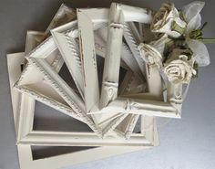 Shabby cottage chic weathered white frame collection from swede13 on etsy
