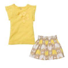 ملابس، اطفال، بنات، فاشن، ازياء ، موضة، كيوت، متجر، باتز، طقم ،ماركة، ماركات، كارترز، ماركات عالمية، عالمية، بناتي، ازياء الصيف   http://www.pattz.com/apparel-woven-skirt-girl-toddler-top-short-sleeve-color-yellow.html