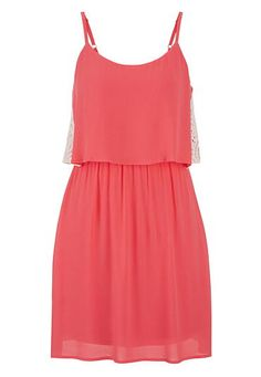 pink summer dress with crochet sides #maurices