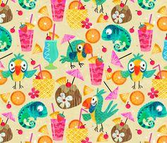 Chillaxin fabric by sarah_treu on Spoonflower - custom fabric