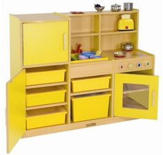 Early Childhood Resources Colorful Essentials 4-in-1 Play Kitchen