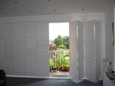Bi-Folding Door Plantation Shutters