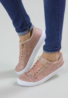 These gorgeous blush sneakers are a must! Super cute and look ahh-mazing with nearly any outfit - you need them in your closet!
