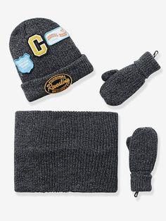 Set aus Mütze, Rundschal und Handschuhen - MARINE - 1