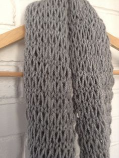 This is a great scarf pattern for beginner knitters since not only is it easy/quick to knit with chunky yarn and big needles, but it is also made with just two basic stitches: knit and purl. It is...