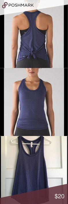 Luluemon Tie It Up Singlet I'm a Lulu addict but went a little overboard with these tanks (bought in every color possible). So comfortable and soft! Size 6 in the heathered blue color. Worn a few times, but still in great condition! lululemon athletica Tops Tank Tops