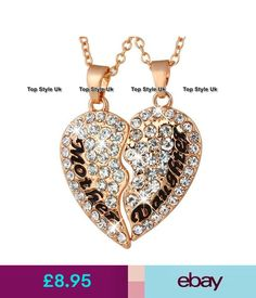 Necklaces & Pendants Rose Gold Jewellery Mother And Daughter Necklaces Crystal Heart Gifts For Her S1 #ebay #Fashion