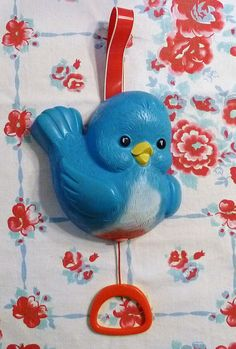 Vintage Fisher Price Bluebird Toy, on my crib when I was a baby, now kelsey and kylee have it on their baby crib. Does this make me vintage? Jouets Fisher Price, Fisher Price Toys, Vintage Fisher Price, Childhood Toys, Childhood Memories, Kitsch, Love Vintage, Vintage Candy, Crib Toys