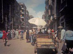 Visiting Egypt several decades ago.