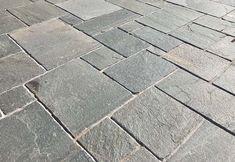 Hand Cut Kavalas Slate (Random Pattern)   Akrolithos Thasos, Crazy Paving, Random Pattern, French Pattern, Flat Rock, Garden Steps, Grey Tiles, Alexander The Great, Star Sky