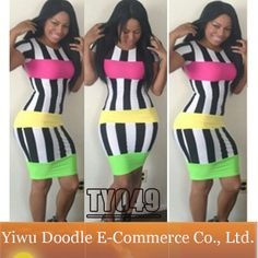 New Fashion Spring 2014 Colorful Boutique Patchwork  Bandage Dress Women Sexy Bodycon Club dresses Novelty Outfit Free Shipping $10.99