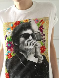 0df74497646c Bob dylan floral aura embroidered tee