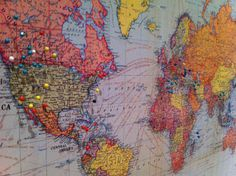 Adventures at 1628: How To: Create a DIY Travel Map