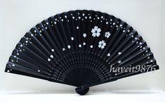 Silk Japanese Hand fan Folding fan Sakura by HaveItFancyWorld