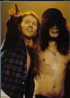 Axl: There! Slash: Where?!....#Guns-n-Roses