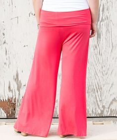 8e209d3256c This Sealed With a Kiss Designs Coral Pear Palazzo Pants - Plus by Sealed  With a