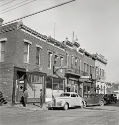 """August 1942. """"Street in Dillon, Montana, trading center for a prosperous cattle and sheep country."""""""