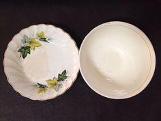Estate Find - 2 x Vintage Plate and Bowl - Staffordshire & D? Vintage Plates, Vintage Ceramic, Plates And Bowls, Pie Dish, Decorative Plates, Porcelain, Pottery, Ceramics, Amp