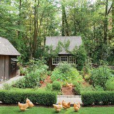 It Even Has a Chicken Coop - Garden Style - Dream Garden! It Even Has a Chicken Coop Dream Garden! It Even Has a Chicken Coop - Southern Li The Farm, Fairytale Garden, Dream Garden, Garden Care, Garden Tips, Farm Gardens, Outdoor Gardens, Amazing Gardens, Beautiful Gardens