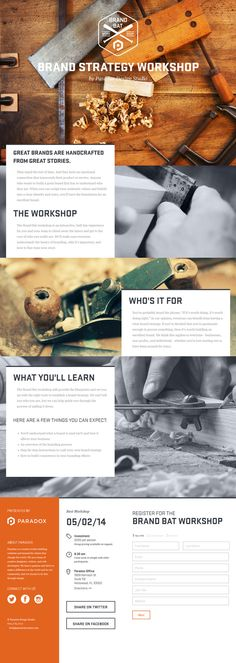 Flat Design Website; Example; Name Website: The Brand Bat; Type Website: Paradox Design Studio; building websites and brands; One Page Site; Color Orange.