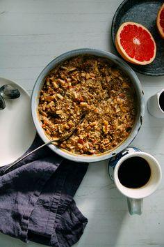 hearty apple-spice buckwheat bake #vegan #glutenfree // via thefirstmess.com