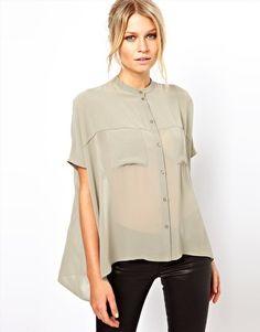 Lovely grey Chiffon shirt