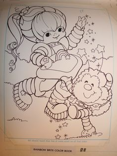 Rainbow Brite and Twink - Layout from Rainbow Brite Coloring Book