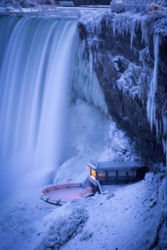 Winter in Niagara Falls, Ontario, Canada