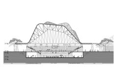 Image 21 of 36 from gallery of Four Sport Scenarios / Giancarlo Mazzanti + Felipe Mesa (Plan:b). Steel Structure Buildings, Roof Structure, School Architecture, Architecture Details, Giancarlo Mazzanti, Space Frame, Sports Complex, Facade, Louvre