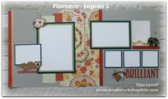Scrapbooking Kits: Layout #3 of the Florence 6 Page Scrapbook Kit, pre-cut…