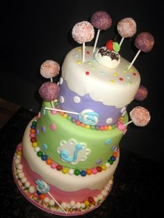 AWESOME! Love cake pops and such a great way to incorporate them into a cake