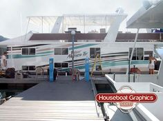 Stripingsaturday Custom Striping Boat Name And Registration - Houseboats vinyl decals