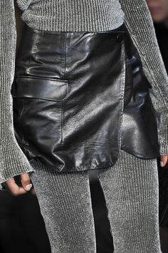 chop off the bottom of a leather jacket and turn it into a skirt - Alexander Wang Fall 2010 - Details