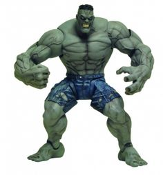 "Marvel Select Figure - Ultimate Hulk. Coming from DST. It's The Marvel Select Figure - Ultimate Hulk. Scaled to the standard 7"" size of the rest of the Marvel Select action figure line, Ultimate Hulk stands over 8"" tall, and stands head and shoulders above the rest! Sculpted by Sam Greenwell, the Ultimate Hulk is one of the most articulated Marvel Select figures yet, and includes a scenic backdrop base. A stunning 16 points of articulation on a figure this well detailed include …"