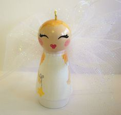 Hand Painted Love Boxes Christmas Angel by handpaintedloveboxes, $30.00