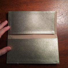 gold check holder gold check holder, never used Bags Wallets