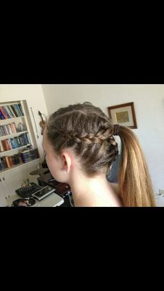 This hair style is not too elegant and not too plain its perfect for sports.