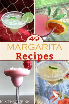 These Margarita recipes take the classic drink and re-imagine it in so many varieties you could have a different one every day for over a month. The flavors include all sorts of fruit juices, beer, chocolate and more, Party Drinks, Fun Drinks, Yummy Drinks, Alcoholic Drinks, Tequila Drinks, Drinks Alcohol, Margarita Recipes, Cocktail Recipes, Drink Recipes