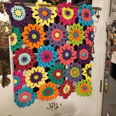Items similar to Flower Valance- Flower Curtains- Crochet Curtains- Kitchen Curtains- Colorful Curtains- Custom Curtains- Window Valance on Etsy Kids Curtains, Cool Curtains, Custom Curtains, Colorful Curtains, Kitchen Curtains, Flower Curtain, Flower Window, Crochet Flower Squares, Crochet Flowers