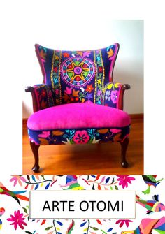 """RESERVED RESERVED Vintage Arm chair wing back. Multicolor. Blends well with your otomi Decor! """"La Bohemia"""""""