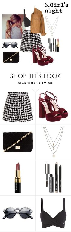 """Girl's night"" by aliceresident on Polyvore featuring moda, Emma Cook, Forever 21, Orelia, Bobbi Brown Cosmetics, Retrò, Madewell, women's clothing, women y female"