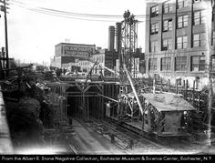 Building of the Rochester, NY Subway aka Rochester Industrial & Rapid Transit Railway.