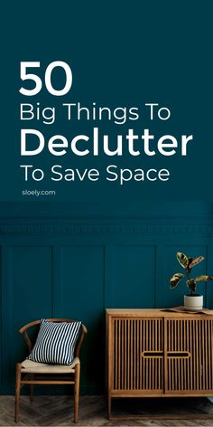 Use this declutter checklist to clear 50 big things hiding in plain sight that are eating up room. Decluttering your home of just a few of these quickly will save big space. #declutterhome #declutterchecklist #savespace Maximize Space, Create Space, Declutter Your Home, Organizing Your Home, Old Ironing Boards, Fold Out Table, Konmari Method, Space Saving Storage, Decluttering